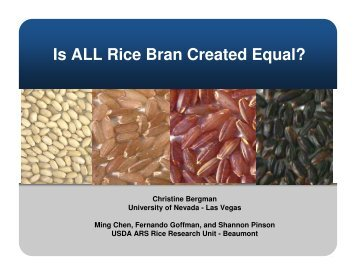 Is ALL Rice Bran Created Equal? - USA Rice Federation