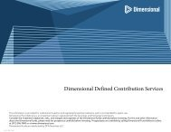 Slide 0 - Dimensional Fund Advisors