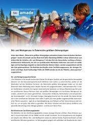 Inhalt Pressetext Wein- & Skigenuss - Ski amadé