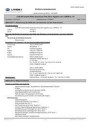EG-Sicherheitsdatenblatt - HACH  LANGE
