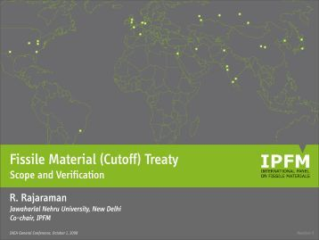 IPFM Briefing - International Panel on Fissile Materials