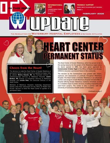 The Newsletter For Waterbury Hospital Employees