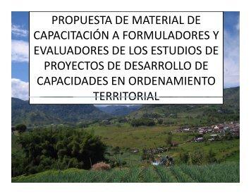 propuesta de material de capacitación a formuladores y ... - PDRS