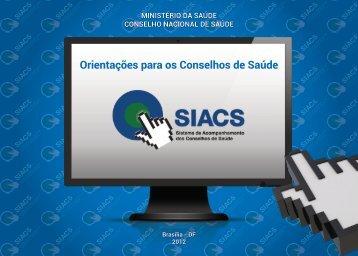 Cartilha SIACS - Conselho Nacional de Saúde - Ministério da Saúde