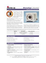 20/20F - Fast UV/IR Flame Detector - Spectrex Inc.