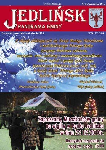 www.jedlinsk.pl Nr 26/grudzień/2010 - Jedlińsk, Urząd Gminy