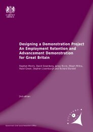 Designing a Demonstration Project An ... - The Civil Service