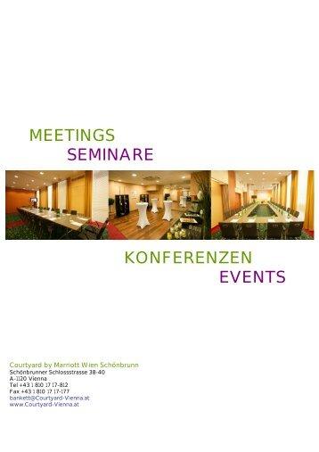 MEETINGS SEMINARE KONFERENZEN EVENTS