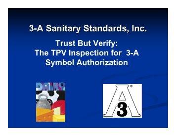Presentation Slides (PDF) - 3-A Sanitary Standards