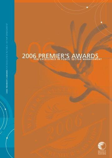 Premier's Awards Profiles 2006 - Public Sector Commission - The ...
