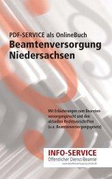 Beamtenversorgungsrecht Niedersachsen Stand: Mai 2010