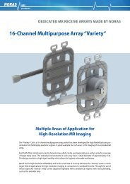 """16-Channel Multipurpose Array """"Variety"""" - NORAS MRI products ..."""