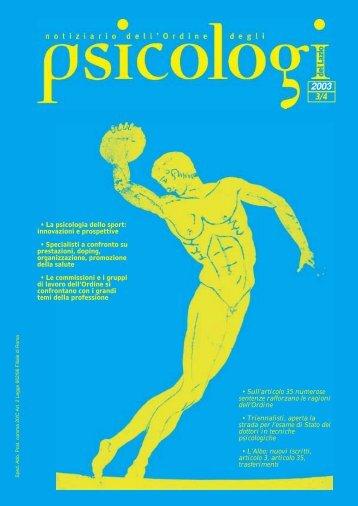 Notiziario n. 3-4/2003 - Ordine degli Psicologi del Lazio
