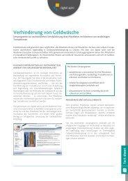 Verhinderung von Geldwäsche - Compliance Training