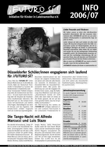 INFO 2006/07 Düsseldorfer Schüler/innen engagieren ... - Futuro Si