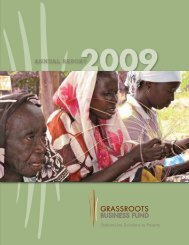 Read the 2009 Annual Report - Grassroots Business Fund