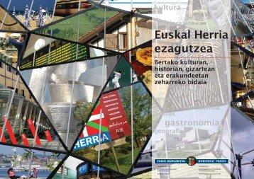 Euskal Herria ezagutzea (pdf, 4,3Mb) - Kultura Saila - Euskadi.net