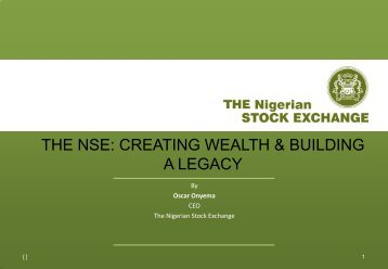 creating wealth & building a legacy - The Nigerian Stock Exchange
