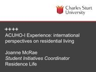 ACUHO-I Experience - All Occasions Management Group