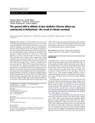 The upward shift in altitude of pine mistletoe (Viscum album ssp ...