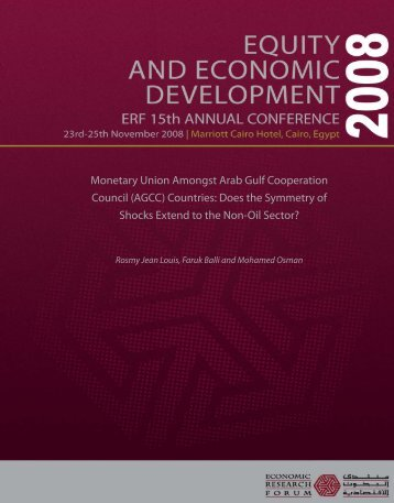 Monetary Union Amongst Arab Gulf Cooperation Council (AGCC ...