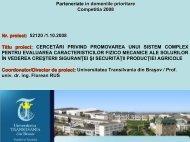 CERCETARI PRIVIND PROMOVAREA UNUI SISTEM COMPLEX ...
