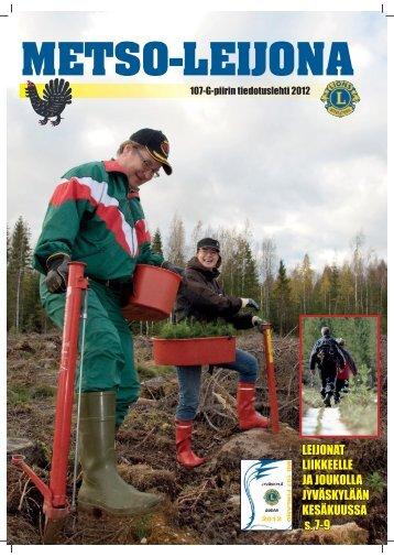 Vuoden 2012 Metsoleijona ladattavissa pdf-tiedostona (n. 16 Mt)