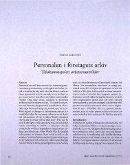 Personalen i företagets arkiv Tobaksmonopolets ... - Visa filer