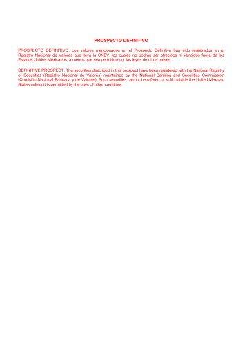 PROSPECTO DEFINITIVO - Bancomer.com