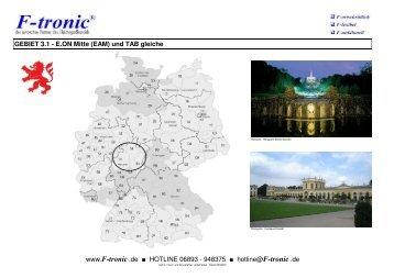GEBIET 3.1 - E.ON Mitte (EAM) und TAB gleiche www.f-tronic .de ...