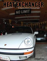 FEBRUARY 2009 - Shenandoah Region Porsche Club of America