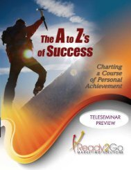 The A to Z's of Success - Ready2Go Marketing Solutions, Inc.
