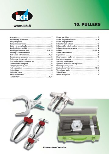 10. PULLERS