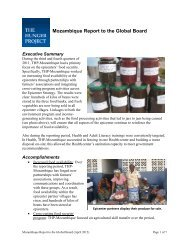 Mozambique Report to the Global Board - The Hunger Project