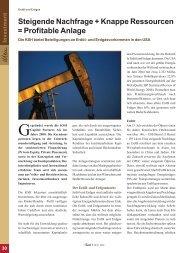 Steigende Nachfrage + Knappe Ressourcen = Profitable Anlage