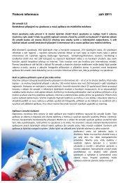 Tisková informace září 2011 Ski amadé 3.0 Bezdrátové připojení na ...
