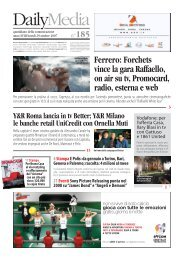 Ferrero: Forchets vince la gara Raffaello, on air su tv ... -  DDB