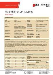 RENDITE STEP UP - ANLEIHE - Zertifikate - Landesbank Berlin