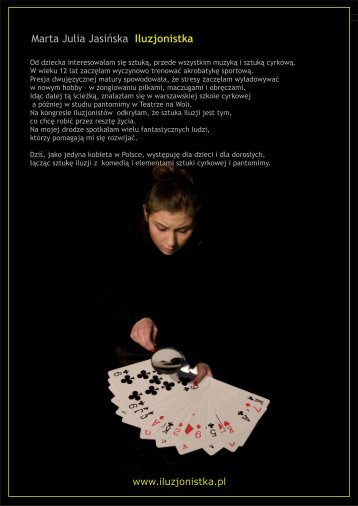 Marta Julia Jasińska Iluzjonistka