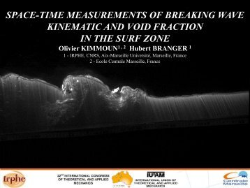 Space-Time Measurements of Breaking Waves Kinematics and Void ...