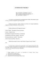 ICTIOSIS SECUNDARIA * - Antonio Rondón Lugo
