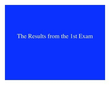 The Results from the 1st Exam
