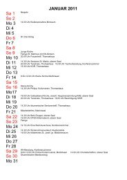 Jahresplanung 2011