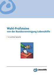 Pr.Wahl-Prufsteine2013.korr.indd - Bundesvereinigung Lebenshilfe ...