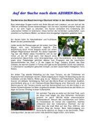 Bericht Azoren im Mai 2012 - Maschinenring Oberland