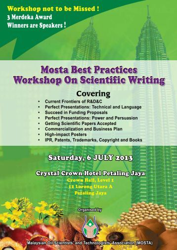 MOSTA Best Practices Workshop On Scientific Writing