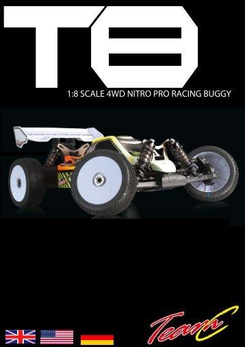 1:8 SCALE 4WD NITRO PRO RACING BUGGY - Absima