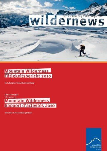 Mountain Wilderness Rapport d'activités 2010