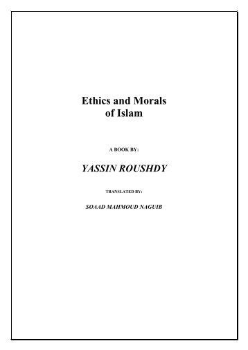 Ethics and Morals of Islam - Mouassa Islamic association