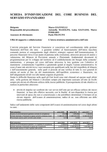 Indicatori Servizio Finanziario - Comune di Borgo San Lorenzo